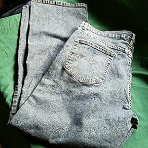 "O'lico Blue Jeans Womens size 15 37"" waist 14W"